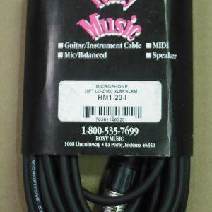 Roxy Music Horizon 20' Microphone XLR to XLR Cable Black - Lifetime Warranty