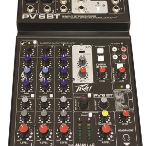 Peavey PV6 BT 6 Channel Mixer with Bluetooth