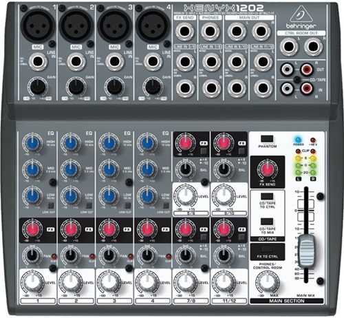 Behringer XENYX 1202FX 12 Channel Analog Mixer
